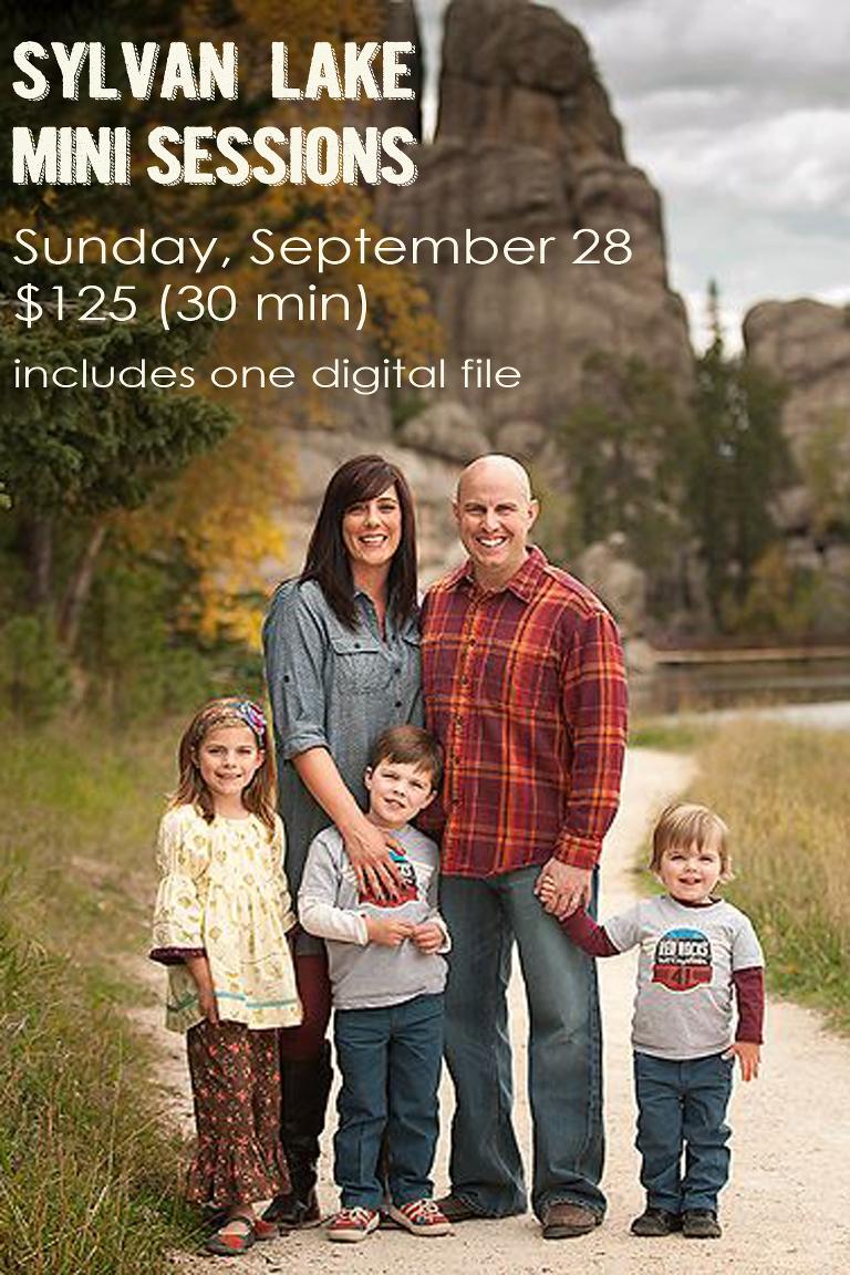 Sylvan Lake Mini Sessions | Sunday, September 28 | $125 includes one digital file (30 min)